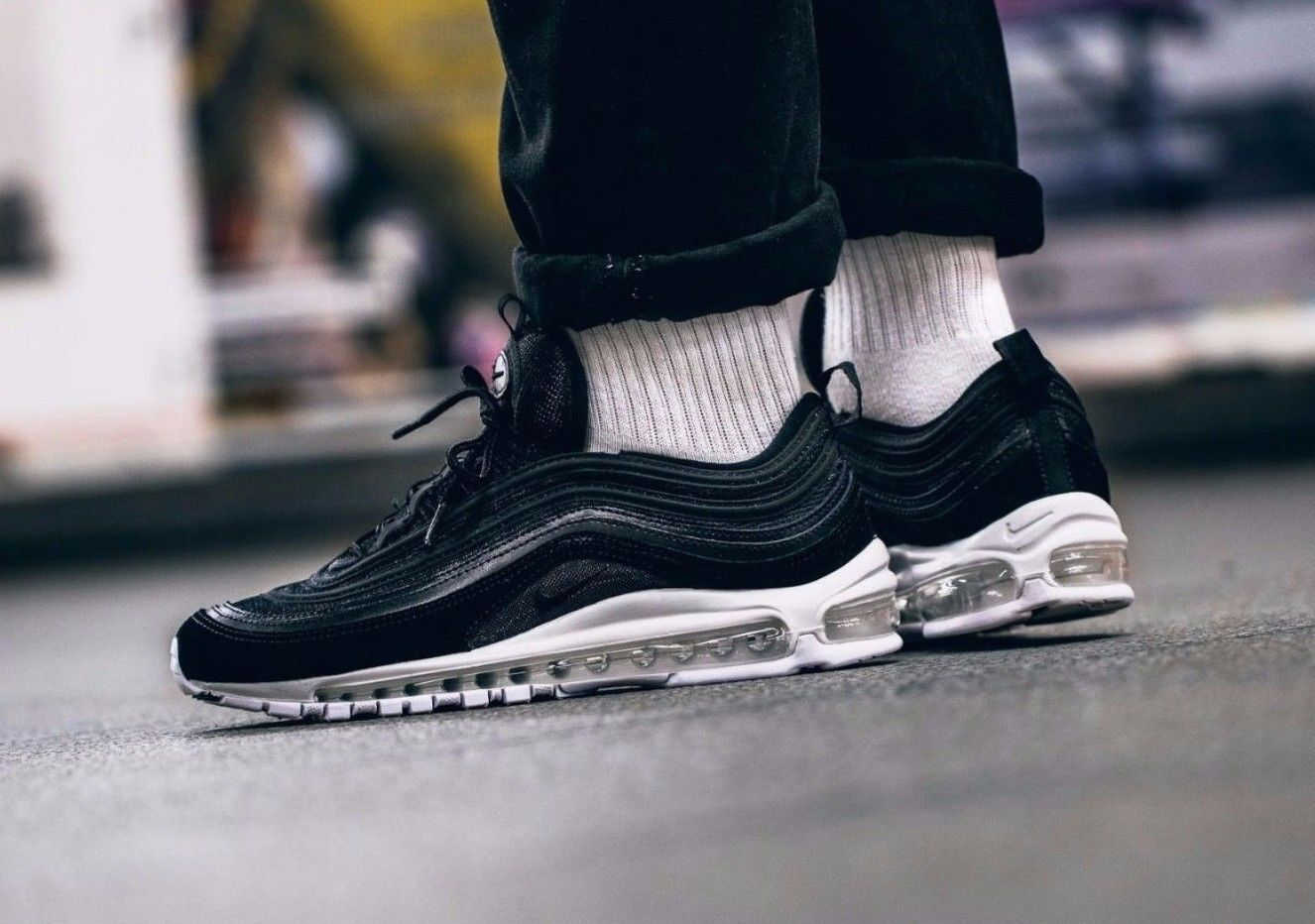 NIKE AIR MAX 97 PRM Black/White- UNISEX TRAINERS ALL SIZES- Limited Pairs