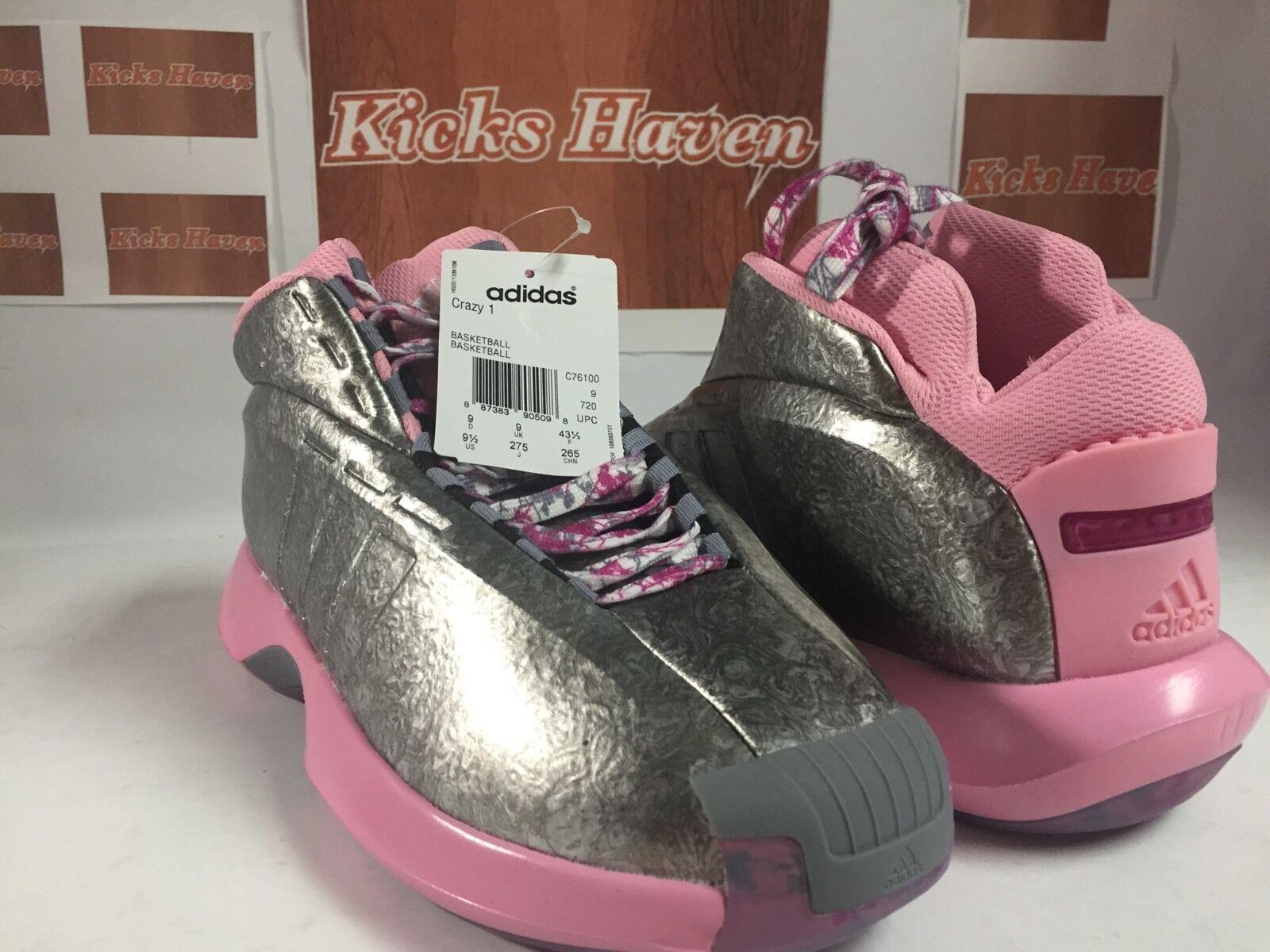 neue adidas verrückt 1 john wall pe floristen kobe stadt rosa band schuh kobe floristen c76100 sz 8,5 dce07b