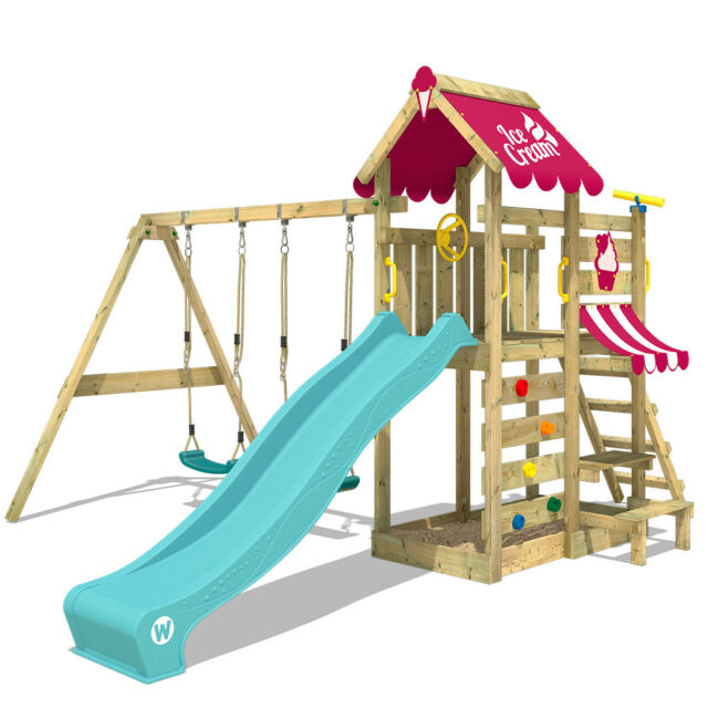 Wickey Spielturm Kletterturm Vanillaflyer Garten Klettergerüst