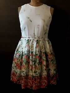 Valentino-RED-Cotton-Floral-Garden-Dress-Sweet-Spring-Summer-amp-Fall-Frock