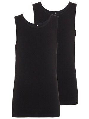 Unparteiisch Name It Jungen 2er Pack Unterhemden Set Schwarz Größe 110/116 Bis 158/164 Gut Verkaufen Auf Der Ganzen Welt