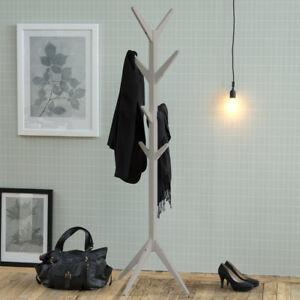 Das Bild Wird Geladen Garderobenstaender Grau Skandinavisches Design Holz  Flurmoebel Kleiderstaender