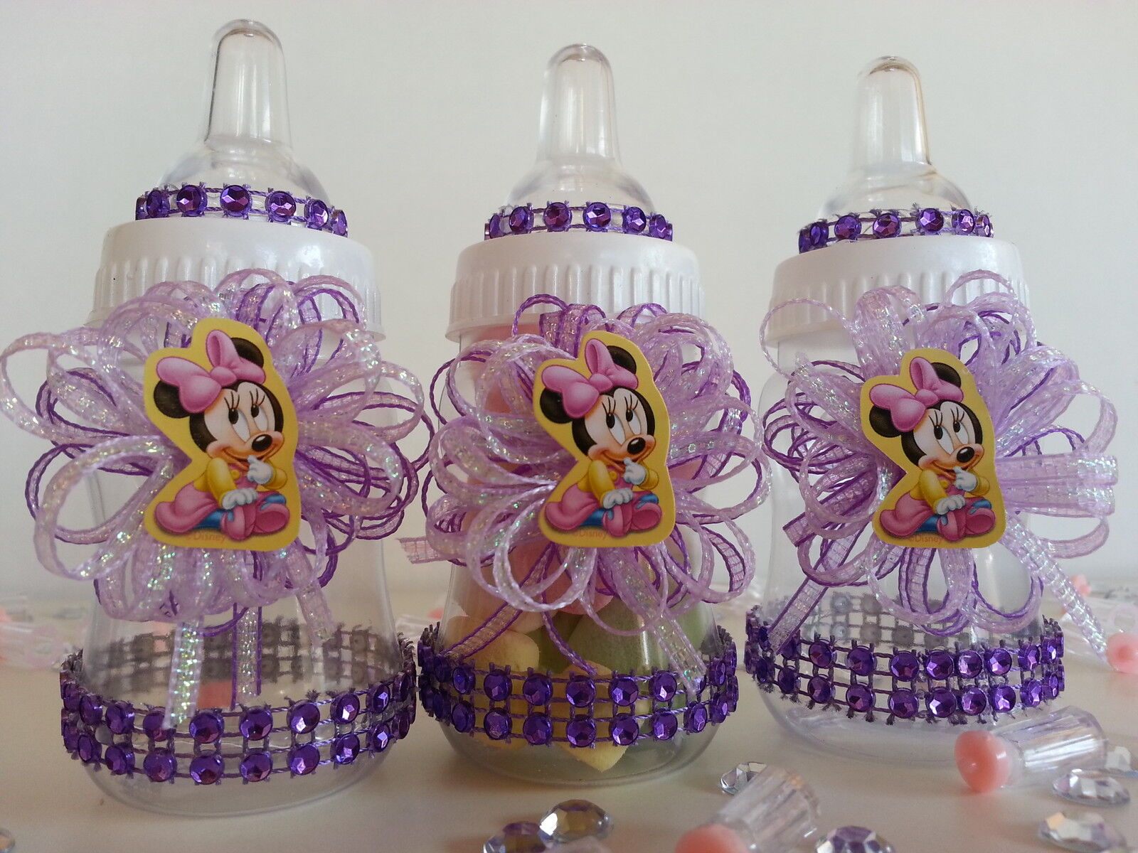 details about 12 minnie mouse pacifier necklaces baby shower favors