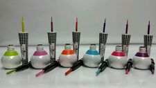 6 Pcs Italia Deluxe Lovely Neon Waterproof 2 in 1 Liquid & Pencil Eyeliner Set