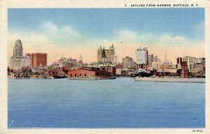 Carte-ETATS-UNIS-NY-BUFFALO-Skyline-from-Harbor