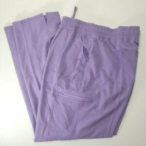 Scrubstar Women/'s Scrub Mock Wrap Top 4-Way Stretch Purple Sizes L 3XL 2XL XL