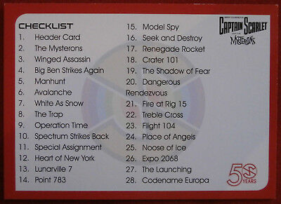 CAPTAIN SCARLET 50 YEARS - Card #36 - CHECKLIST - Unstoppable Cards 2017    eBay
