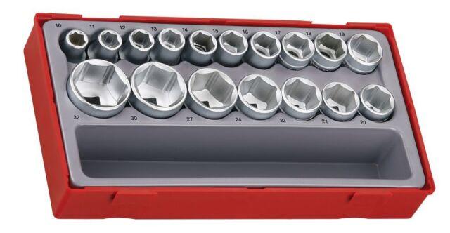 Teng Tools TT1217-6 17pc 1.3cm Conducir 6 Punto Métrico Enchufe Set
