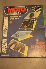 MOTO JOURNAL HORS SERIE SPECIAL ACCESSOIRES HIVER 84 85 1984 1985