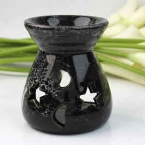 Black-Fragrance-Oils-Simmering-Granules-Wax-Melts-Ceramic-With-Candle-Oil-Burner