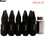 20pcs-Aluminum-Lock-Lug-Nuts-With-Spikes-M12x1-25-For-Nissan-Subaru-Suzuki-black thumbnail 1