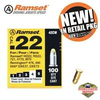 RAMSET 42CW Powder Load Yellow 22 Caliber Pk 100 Tools and Accessories
