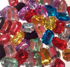 5x Large Faceted  Emerald Shape  Embellishment, crystal,gems, Rhinestone