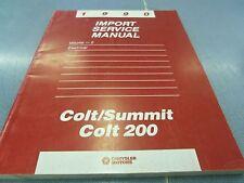 1990 Import Service Manual Volume 2 Electrical Colt/Summit Colt 200 FREE Ship!!