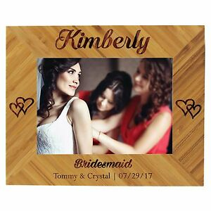 Custom Engraved 8x10 Picture Frame For Bridesmaids Maid Of Honor