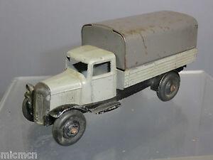Wagon couvert modèle N ° 25b Vintage Dinky Toys (gris clair / inclinaison foncée)