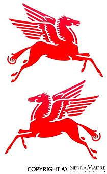 Racing Pegasus Decal Set 4 1//2/'/' x 3 3//4/'/' All Vintage Racing Porsche Models