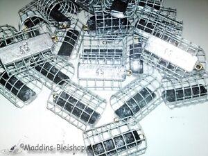 10er-Set-Futterkoerbe-45g-Futterkorb-Blei-Grundangeln