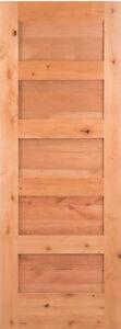 5 panel knotty alder flat panel mission shaker solid core - Knotty alder interior doors sale ...