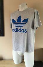 Vintage ADIDAS Grey T Shirt Tee Retro Originals Equipment Size Medium