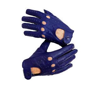 Blue-Sheep-skin-leather-driving-gloves-for-Men