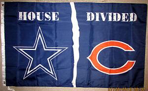 DALLAS-COWBOYS-vs-CHICAGO-BEARS-HOUSE-DIVIDED-3x5-FEET-FLAG-BANNER-NFL-Romo-NEW