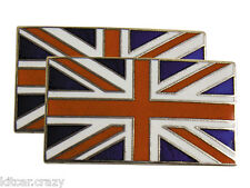 PAIR OF SELF ADHESIVE ENAMELLED UNION JACK BADGES,  CLASSIC CAR