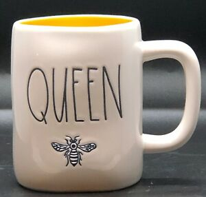 Rae-Dunn-Queen-Bee-Mug-With-Yellow-Interior