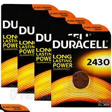 4 x Duracell Lithium CR2430 3V Coin Cell batteries DL2430 ERC2430 K2430L EX:2025