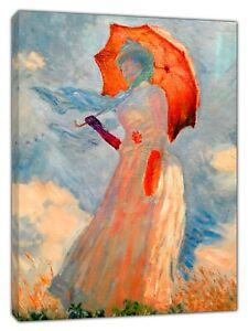 Amical Claude Monet Parasol Re Oilpaint Imprimer Sur Encadrée Toile Wall Art-afficher Le Titre D'origine