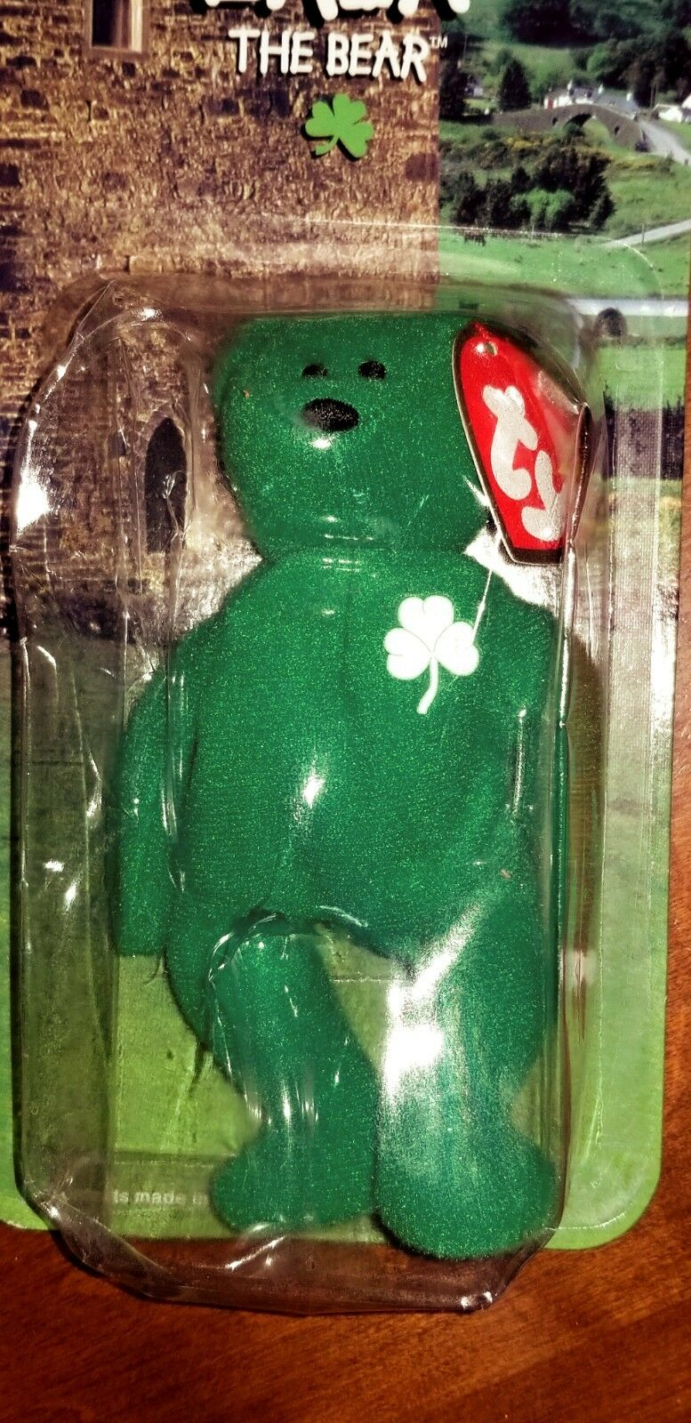 Erin Erin Erin The Bear- McDonald's Ty Beanie Baby with 1993 Tush Tag Error. 1 owner eb1541