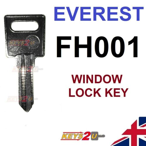 EVEREST FH001 Replacement Spare Window Lock Key Cut to Code