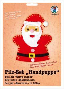 Details Zu Bastelset Filzset Handpuppe Weihnachtsmann Basteln Weihnachten Filz Set Neu