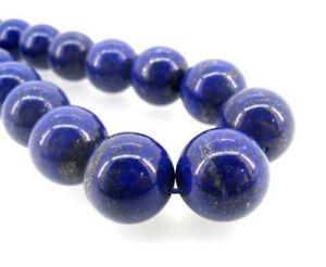 Lapislazuli-Perlen-10mm-Rund-Natur-Edelstein-Schmucksteine-Lapis-Lazuli-G227
