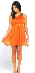 Burnt Orange Bridesmaid Dresses Chiffon