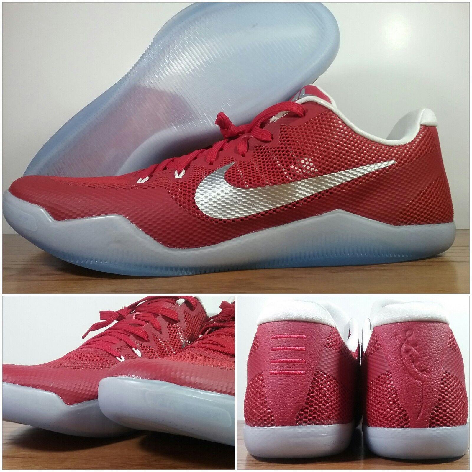 New Nike Men's Kobe XI TB Promo Team Red-Icy Basketball 856485-661 Men's Size 18