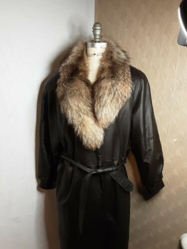 Roseland Fur Salon women leather coat fur tirm ful