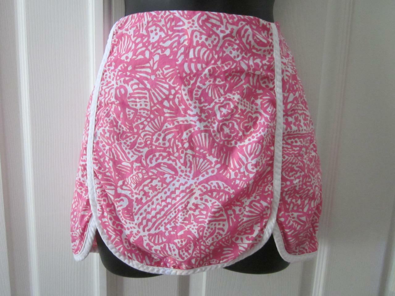 LILLY PULITZER Pink & White Print Tulip Hem Skort… - image 1