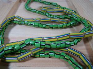 Antique-Venetian-Murano-Millefiori-Glass-African-Trade-Beads-TWO-Strands