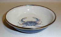 Golden Rabbit Nautical Blue Crab Enamelware 4.25 Tasting Dish Dessert Tapas