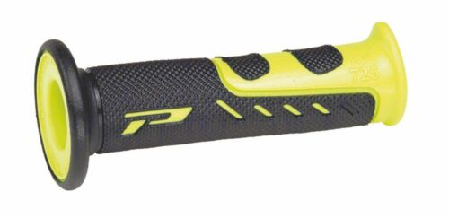 Progrip 725 MX-Superbike-Road Grips Black-Yellow Closed End
