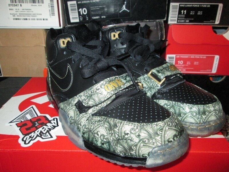 SALE NIKE AIR TRAINER 1 MID PREMIUM PRM QS PAID IN FULL GREEN MONEY 607081 002