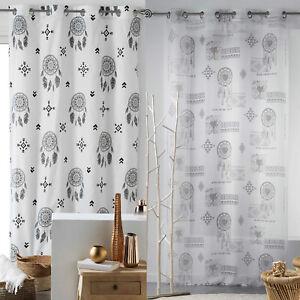 Ösenschal Dreamcatcher 140x240 Ösen Gardine Schal Deko Fenster Schal Gardine