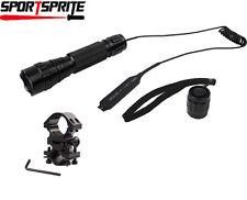 CREE XM-L2 T6 1000Lumen Tactical LED Flashlight w/Pressure Switch Barrel Mount
