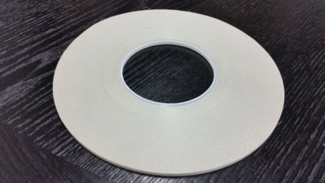 Adchem 256M Double Coated Polyester Tape Clear 4.5 mil 6 in x 250yds Made in USA