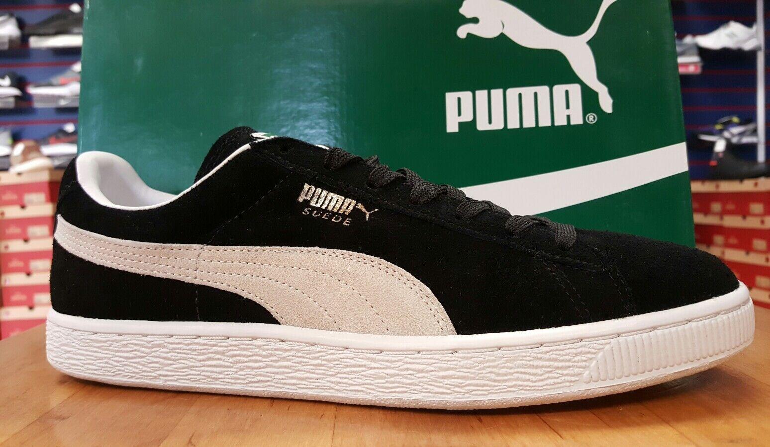 Puma Suede Classic  /  / negro blanco /  de los hombres casual salvaje tamaño 9,5 be240e
