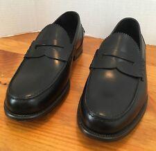Boccanera Men's Italian Black Leather Loafers Dress Shoes EU 43 US 10 Lav Blake