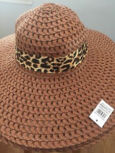 3d223889a8226 BROWN) Sun-Floppy-Hat--Beach-Summer-Wide-Brim-With-Animal-Print ...