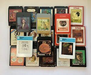LOT OF 21 VINTAGE 8 TRACK MUSIC TAPES Bing Crosby, Lettermen, Fiddlers Hall