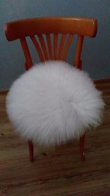 Stuhlauflage Sitzauflage Sitzkissen Kissen Fellkissen Lammfell Schaffell braun